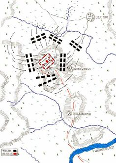 Map of the Battle of Ulundi 4th July 1879 by John Fawkes