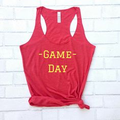 Game Day Sports Tank Top Shirt women fashion blogger outfit style spectator sports cheerleader spirit casual game day soccer mom baseball football basketball polo golf  little league support team summer fall trend winter spring workout gym running track College team NFL Go Team Fight on university rivals  by avantmarket.co Avant Market .co