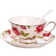 Amazon Royal tea cup Bone China Fashion Ceramic Coffee Cup 8 OZ ...