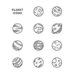 Find Planet Icon Set Outlines Black stock images in HD and millions of other royalty-free stock photos, illustrations and vectors in the Shutterstock collection. Bullet Journal Ideas Pages, Bullet Journal Inspiration, Planet Icon, Astronaut Drawing, Teacher Stamps, Systems Art, Mini Doodle, Doodle Icon, Doodle Art Journals