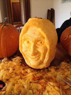 Igor from Young Frankenstein, Pumpkin carving by Michael Hinman.