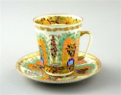 Ekaterina's Imperial Porcelain &Tea. Morning Cup and Saucer