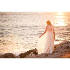 Bohemian Beach Bride On Sunny Croatian Shores Love My Dress UK Wedding... ❤ liked on Polyvore featuring pic, pictures and wedding
