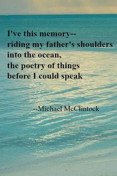 Tanka poem: I've this memory -- by Michael McClintock.