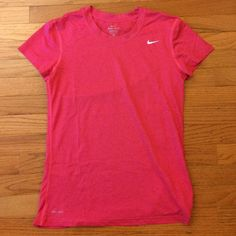 Nike Legend T-Shirt, Small Dri-Fit t-shirt. COLOR: Hot Pink with White swoosh logo, SIZE: S, CONDITION: New | Never worn | No tags Nike Tops Tees - Short Sleeve
