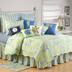 Beach Bedding - Add island style to your bedroom with our selection of over 200 beach themed comforters, quilts, bedspreads and duvets.