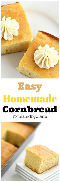 easy homemade cornbread and honey butter recipe from @createdbydiane