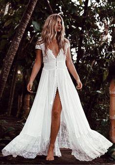 Lace Bridal Dress,Short Sleeve Prom Dress,Custom Made Evening Dress,17145