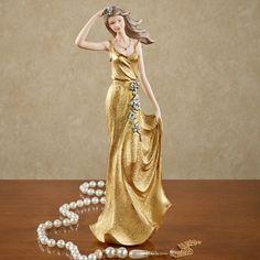Flowered Lady Figurine
