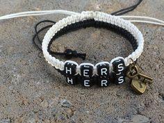 Lesbian Couples Bracelets Hers Hers Bracele tLovers Braclet Free Shiping CP-545 #Unbranded #CouplesBracelet