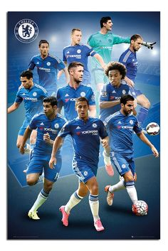 Chelsea FC Players 2015/16 Season Poster