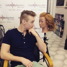 """Hair Reflection is committed to hair cut & color excellence with a full range of salon & spa located in the heart of Pickering. """"Specializing in Keratin"""" Hair Salons in Pickering Keratin Hair, Mens Trends, Male Grooming, Undercut, Cut And Color, Reflection, Polo Ralph Lauren, Hair Cuts, Guys"""