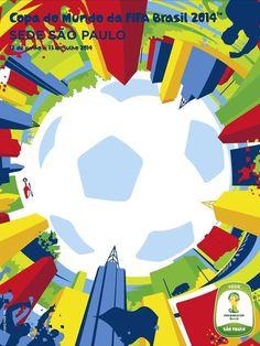 2368c51b24 Cartaz da Copa 2014 - sede-sao-paulo Maior Torcida Do Mundo