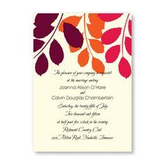 Passionate Leaves Wedding Invitations
