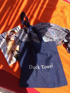 Deck Towel logo tote bag