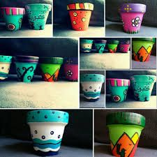 Resultado de imagen para macetas pintadas Flower Pots, Flowers, Painted Pots, Garden Art, Garden Ideas, Glass Art, Planters, Mugs, Tableware