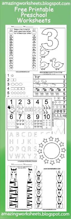 Free Printable Preschool Worksheets by ilsepatino