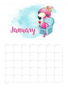 This Free Printable 2020 Funny Flamingo Calendar is just waiting for you to print it so you can get all organized for the new year! Tons of Flamingo Fun! Free Printable Calendar, Free Printables, Flamingo Craft, Flamingo Party, Calendrier Diy, School Calendar, Diy Notebook, Tropical, Party Banners