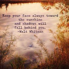 Wednesday Wisdom:  Walt Whitman quote  Photo: Amanda Hobbs Instagram.com/dearstellajewellery