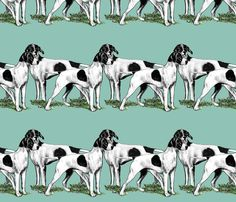 pointers fabric by dogdaze_ on Spoonflower - custom fabric