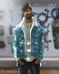 Black Panther the way to wakanda Dope Cartoons, Dope Cartoon Art, Black Cartoon, Black Panther Art, Black Panther Marvel, Heros Comics, Marvel Dc Comics, Thor Marvel, Chica Fantasy