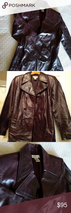 Bebe leather jacket This stunning Bebe leather jacket is a glazed leather in a deep rich purple/burgundy. Double Breasted. It makes a fashion statement. This medium will fit a 6/8. If you are a 2/4, you can still do warm sweaters underneath for a tailored and layered look. bebe Jackets & Coats
