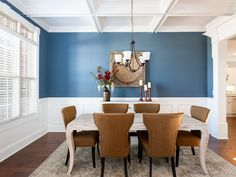 I really like this color blue for the office/dining and flex room.    Our Galleries | Stoneridge Homes Huntsville, AL | Custom Home Builders Huntsville and Madison County Alabama