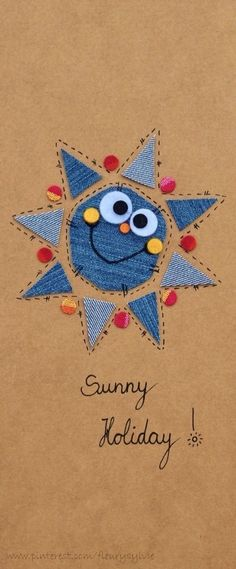 Sunny holidays ! #jeans #recycle   http://pinterest.com/fleurysylvie/mes-creas-la-collec/ et www.toutpetitrien.ch