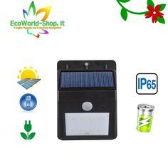 lampada Applique lampione a Led ad Energia Solare faretto segnapasso