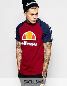 Ellesse Raglan T-Shirt With Taping