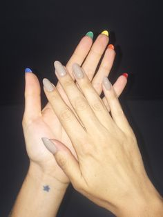 it's what's on the inside that counts :) Adelaide in hidden double rainbow nails