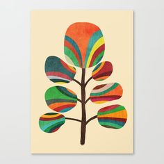 Exotica Art Print by Budi Kwan. An exotic, whimsical tree made or organic abstract shapes. Artwork Design, Art Design, Graphic Artwork, Art And Illustration, Framed Art Prints, Canvas Prints, Framed Wall, Stoff Design, Arte Pop