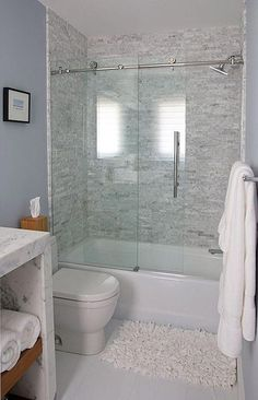 Modern Bathroom Tub Shower Combo Lovely Tub and Shower Bo the Shower Enclosure is by Dreamline Small Bathroom, Bathroom Inspiration, Bathtub Remodel, Tub Shower Combo, Bathrooms Remodel, Bathroom Makeover, Diy Bathroom Remodel, Bathtub Shower Combo, Small Remodel
