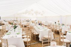 Beautiful Country style marquee with paper lanterns