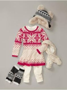 love this winter look for a baby girl outfit