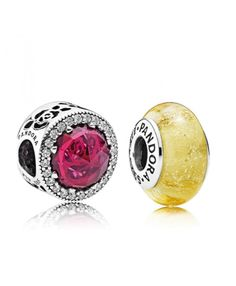 Pandora UK Belles Radiant Rose Cerise and Glass Bead