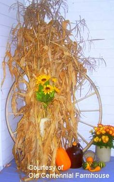Fall decorating with simple items
