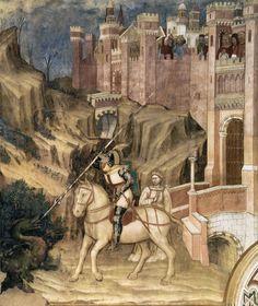 Altichiero, San Giorgio uccide il drago, Oratorio di San Giorgio, Padova, XIV sec.