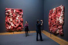 British artist Anish Kapoor exhibits three painted reliefs created at the Rijksmuseum