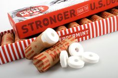 """stronger than the US dollar"" mints: clever packaging"