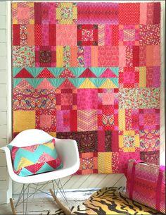 Tula Pink - Tourmaline Flower Market Quilt (TP-FMTKIT) - Tula Pink for Free…