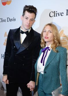 58th GRAMMY nominee Mark Ronson and actress Joséphine de la Baume arrive at Clive Davis' and The Recording Academy's Pre-GRAMMY Gala on Feb. 14 in Beverly Hills, Calif.