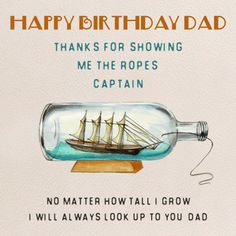On your #dad's #birthday, pull on his heartstrings by telling him how much of a role model he is to you with this #ecard. #happybirthday #free #cards #greetings #wishes.