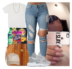 """""""Only fouls fall for you"""" by msixo ❤ liked on Polyvore featuring Aroma, Hard Candy, Ray-Ban, Marc Jacobs, MCM, Casetify, NIKE and Givenchy"""