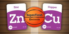 Zinc and copper plates are used in a press to affix decals on basketballs. ~ SuperFlash Elements for iPad! https://itunes.apple.com/us/app/superflash-elements-periodic/id931215207?mt=8