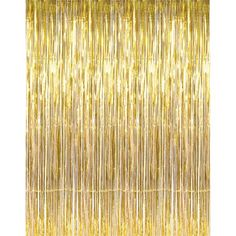 Buy 3' x 8' Gold Tinsel Foil Fringe Door Window Curtain Party Decoration at Walmart.com