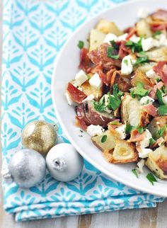 Greek Inspired Baked Potato Recipe with Bacon & Feta — Savor The Thyme - Food, Family and Lifestyle