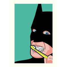 'Bat Brush' by Grégoire Guillemin Graphic Art