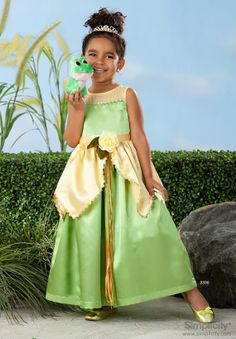 Princess and the Frog Girls Costume by TheHouseOfZuehl on Etsy, $89.99
