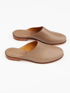 Martiniano - Leather Muller Slides - Coco